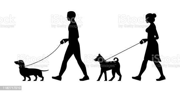 Silhouette man and women walking the dogs vector id1182717010?b=1&k=6&m=1182717010&s=612x612&h=d ye0 xfahjm1obdxqhh1lso1ksgty pyqs02xmuwfk=