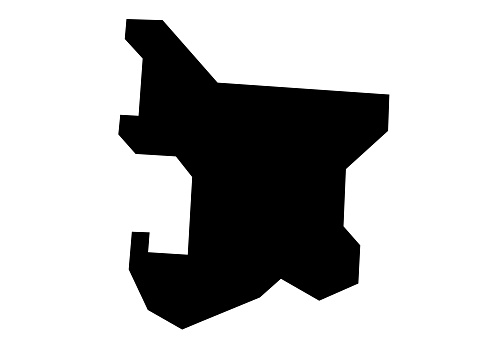 silhouette map of eket city in Nigeria