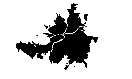 silhouette map of the city of Culiacán Rosales in Mexico