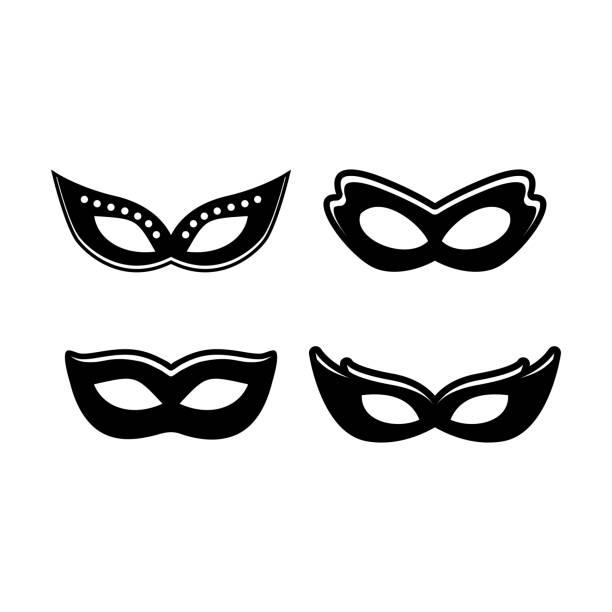 stockillustraties, clipart, cartoons en iconen met silhouet masker - kostuum
