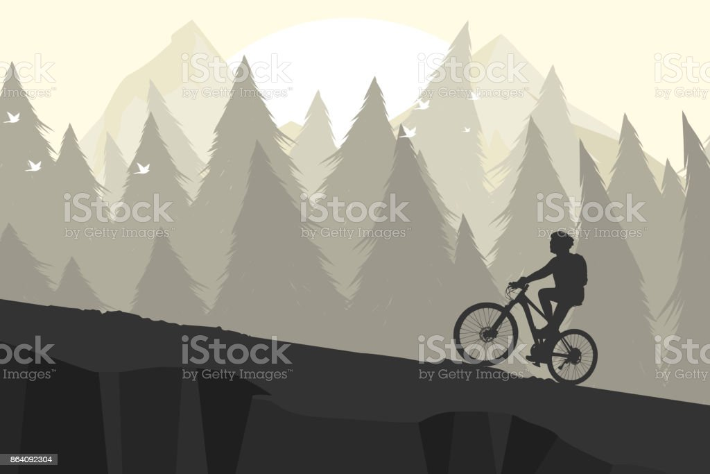 Silhouette mountain bike royalty-free silhouette mountain bike stock vector art & more images of adventure