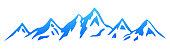 Silhouette  mountain – stock vector