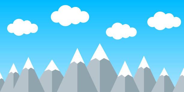 illustrazioni stock, clip art, cartoni animati e icone di tendenza di silhouette mountain with cloud – stock vector - monte bianco
