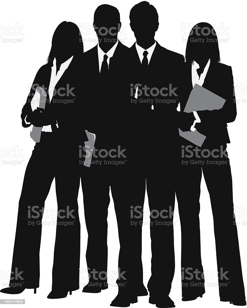 Silhouette of a business team royalty-free stock vector art
