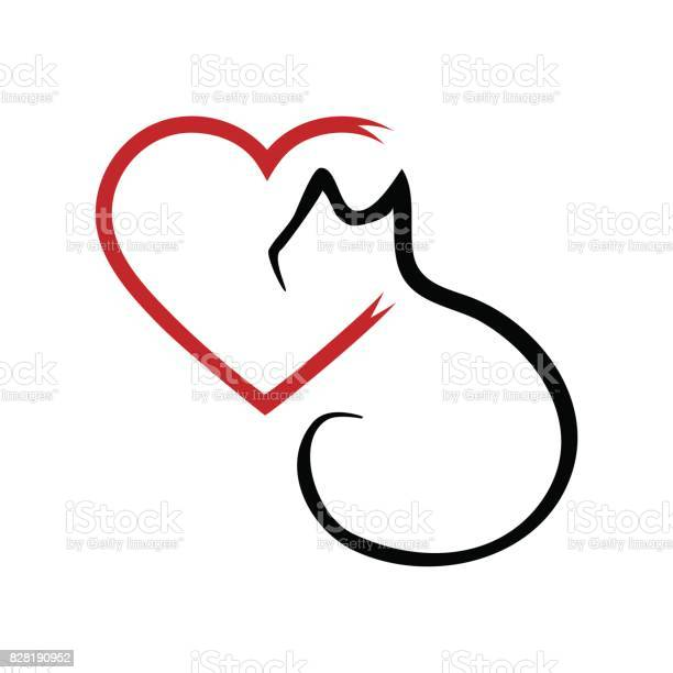 Silhouette of a cat and a heart outline brush abstraction vector id828190952?b=1&k=6&m=828190952&s=612x612&h=tr78ofghbw ifkcadys pjsaevvmpme0tsu31zvqksy=