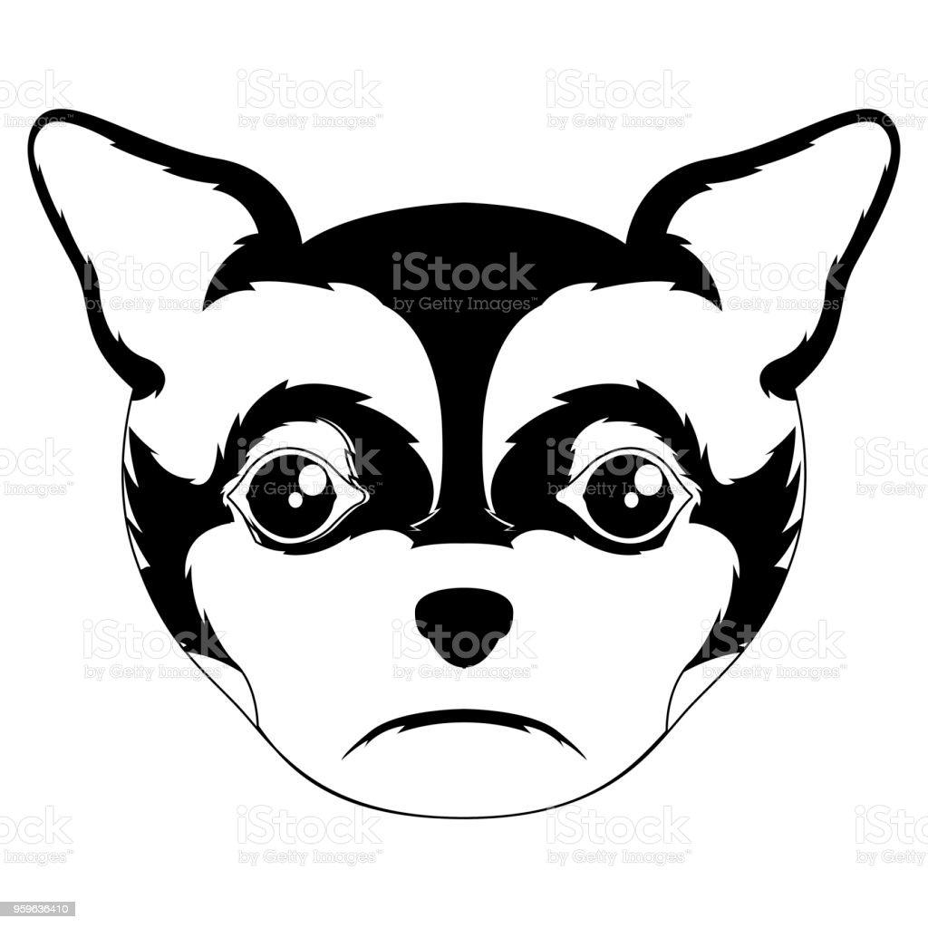 Silueta de un avatar de chihuahua - arte vectorial de Alegre libre de derechos