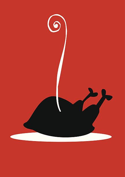 Silueta de pollo casera - ilustración de arte vectorial