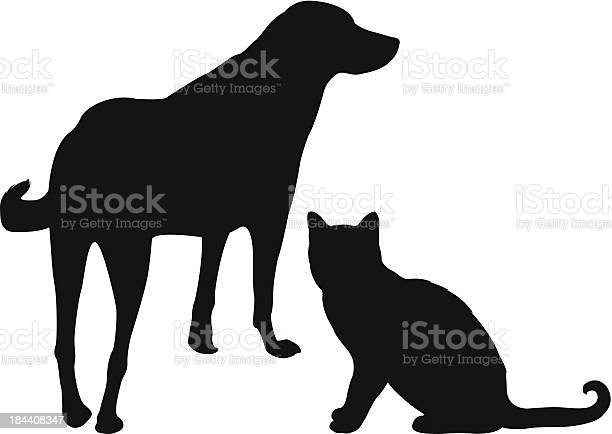 Silhouette of a dog and a cat on a white background vector id184408347?b=1&k=6&m=184408347&s=612x612&h=p0bo4ufnfyrlllgfmcf z1urmnjd1bbejzh4wn0z5rq=
