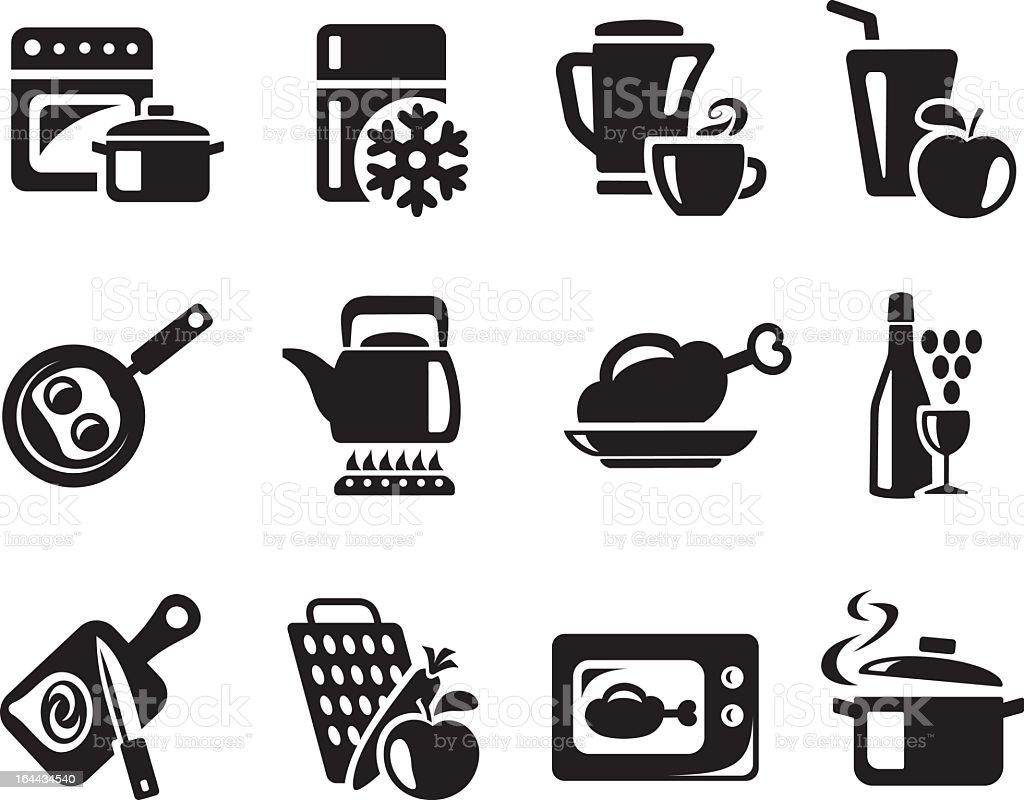 Küche und Kochen Symbole – Vektorgrafik