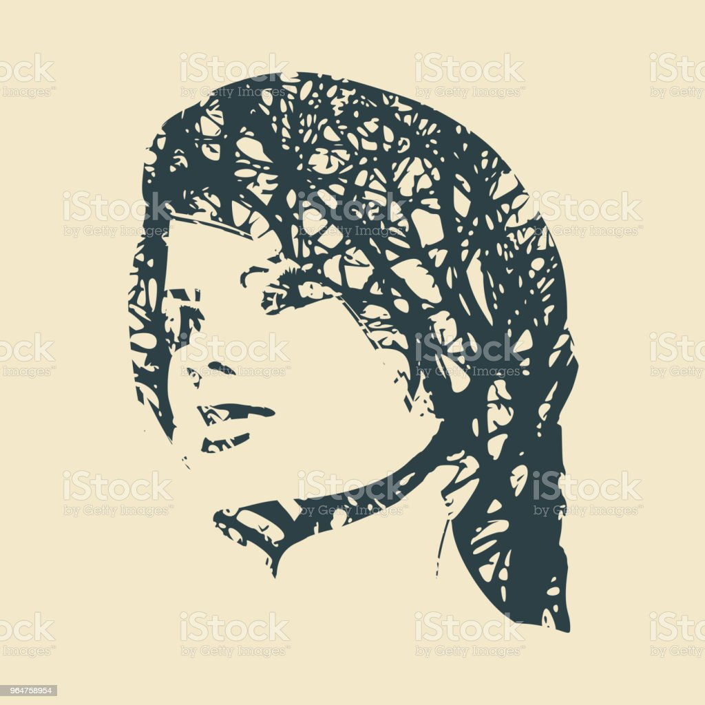 Silhouette of a female head. royalty-free silhouette of a female head stock vector art & more images of adult