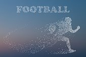 Silhouette of a football player.