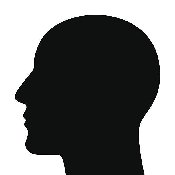 ilustrações, clipart, desenhos animados e ícones de silhueta de cabeça - cabeça