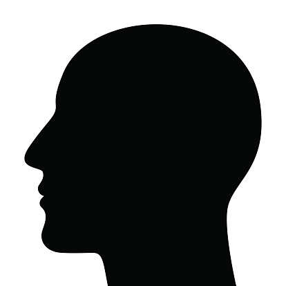 head silhouette stock illustrations
