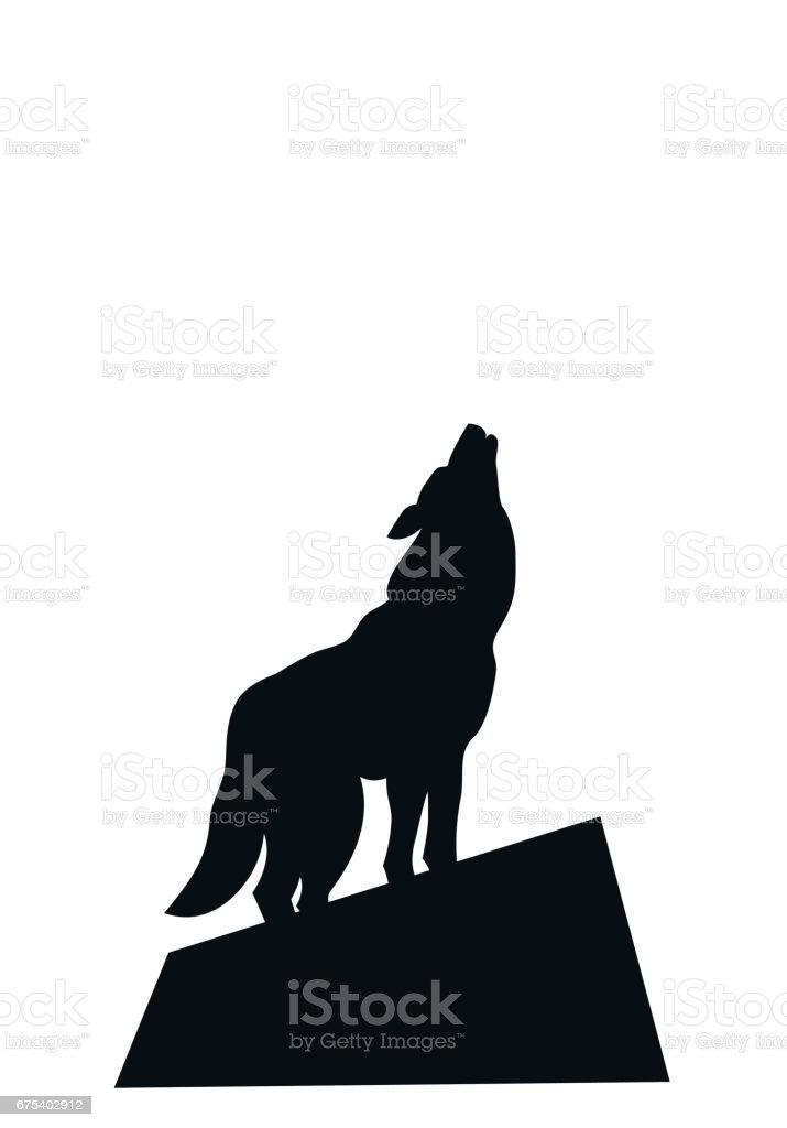 ilustração de silhueta de um lobo uivando e mais banco de imagens de