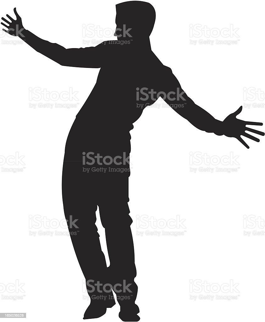 silhouette of a man 06 vector art illustration