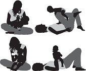 Silhouette of a mother with her babyhttp://www.twodozendesign.info/i/1.png