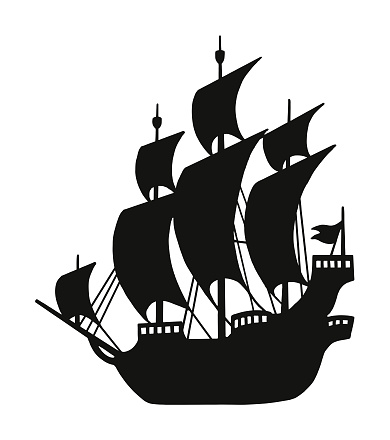 Silhouette of a Pirate Ship