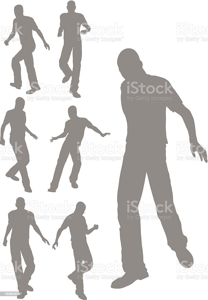Silhouette of a stepping royalty-free stock vector art