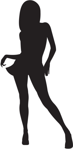 Silhouette Of A Woman 04 Stock Illustration - Download Image Now