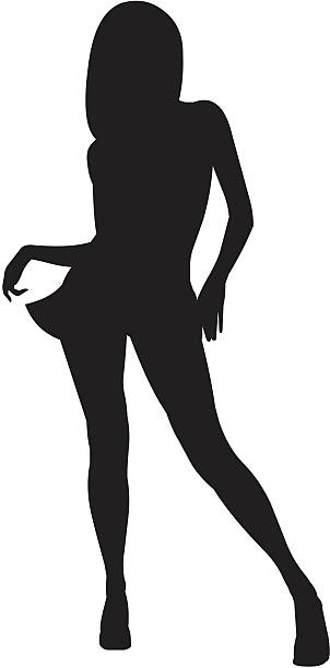 silhouette of a woman 04 vector art illustration