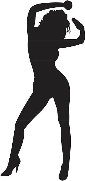 silhouette of a woman 05 vector art illustration