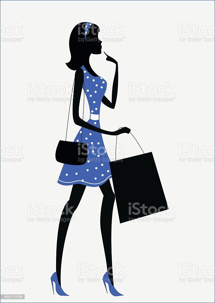 royalty free polka dot dress clip art vector images illustrations rh istockphoto com  women's fashion clipart