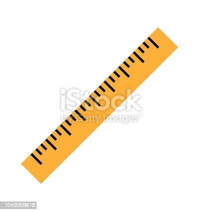 istock Silhouette of a yellow ruler in a flat style 1043059618
