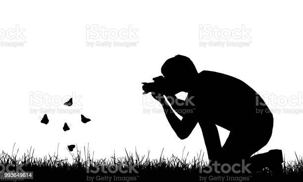 Silhouette of a young man photographing flying butterflies in a lawn vector id993649614?b=1&k=6&m=993649614&s=612x612&h=l66v0dklokuhdhw9apk8id4nyq3btqrejjfdfvzqiv8=