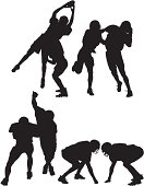 Silhouette of American football players in actionhttp://www.twodozendesign.info/i/1.png
