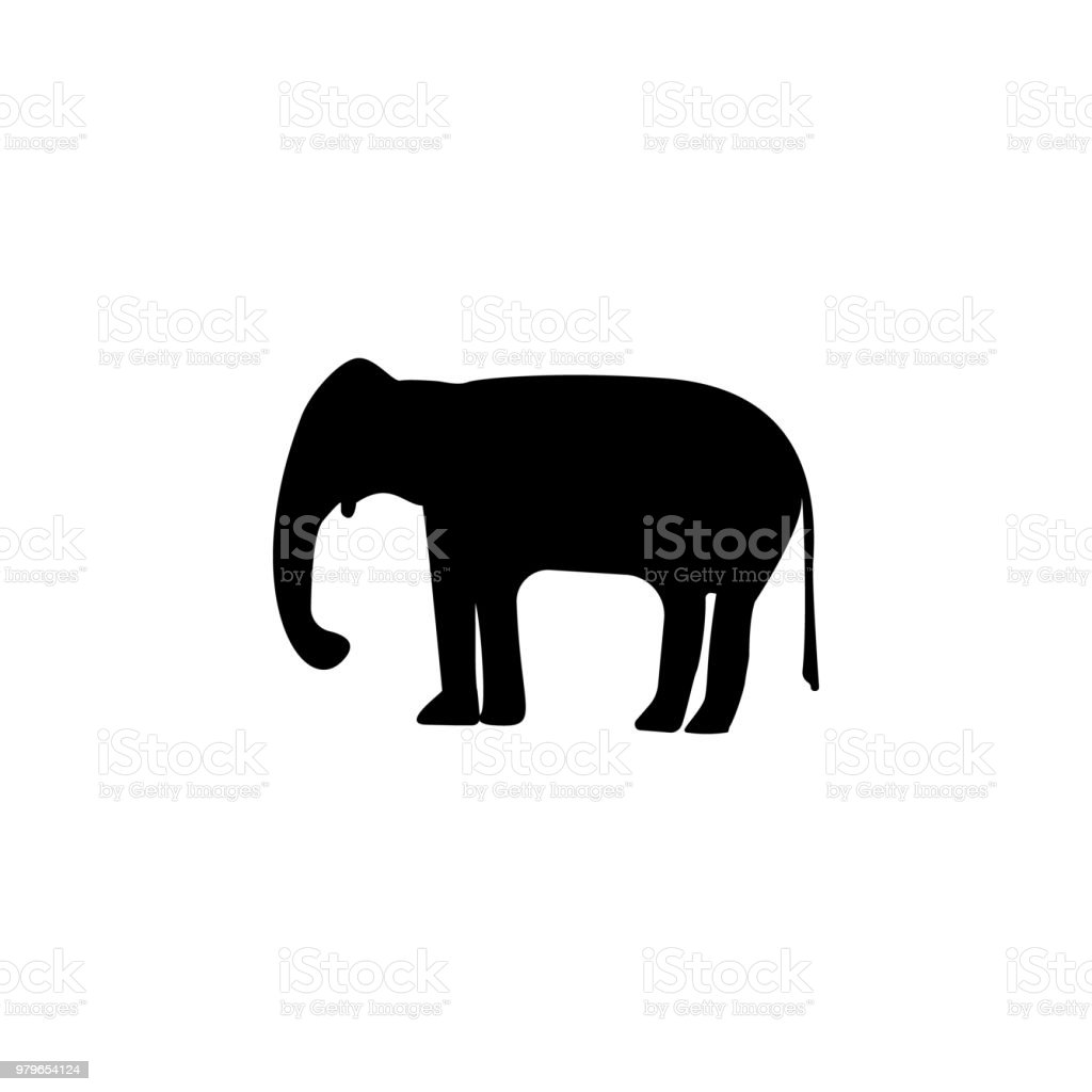 silhouette of an elephant icon. Element of animals icon for mobile concept and web apps. Detailed silhouette of an elephant icon can be used for web and mobile vector art illustration