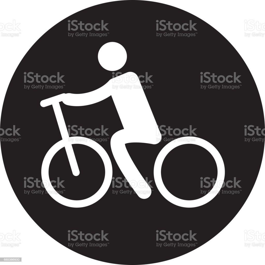 Silhouette of athlete practicing cycling silhouette of athlete practicing cycling - arte vetorial de stock e mais imagens de adulto royalty-free