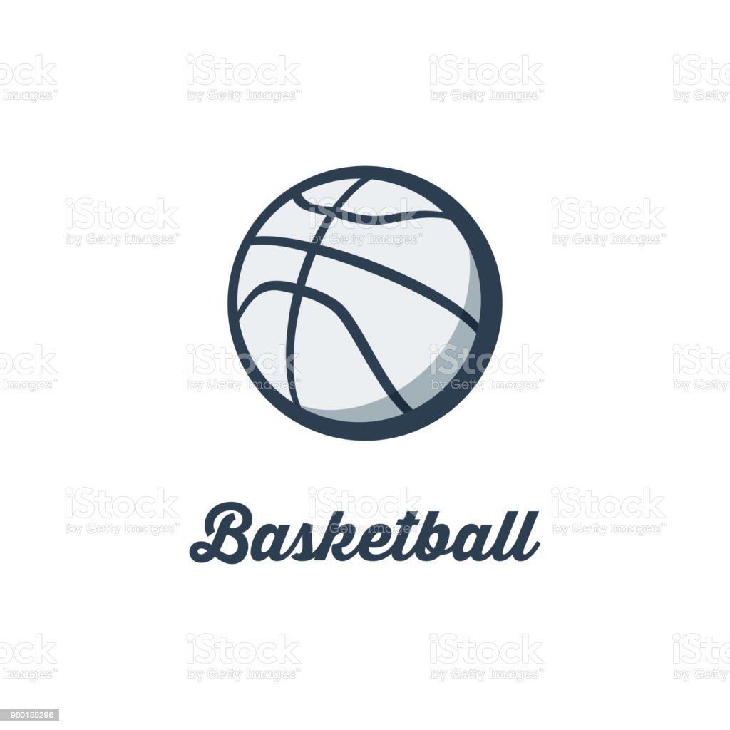 Silhouette of Basketball Ball. Basketball Sport Logo Template