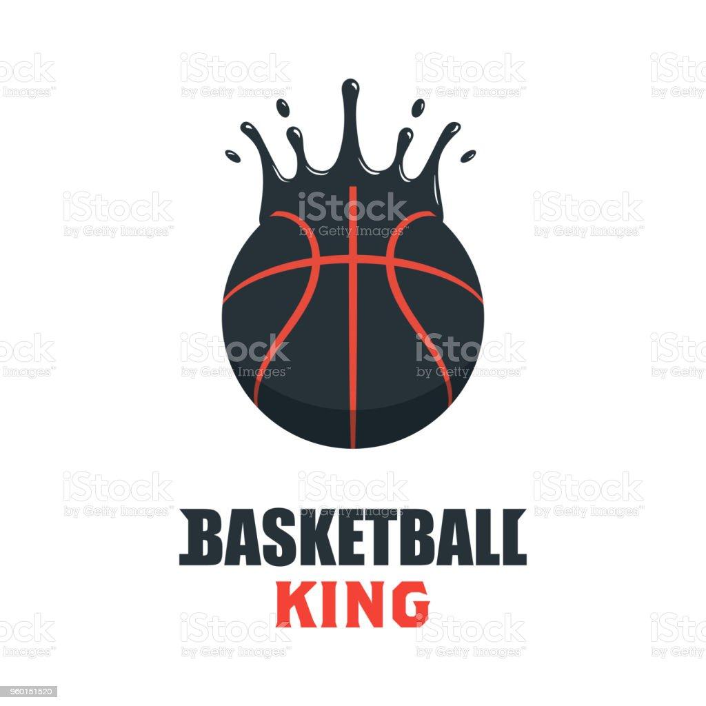 Silhouette of Basketball Ball. Basketball Sport Logo Template Vector...