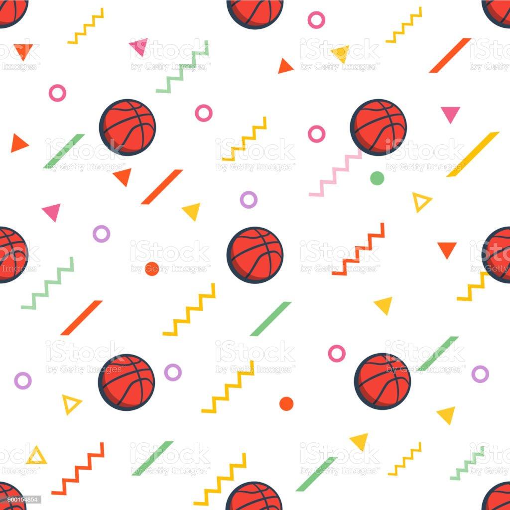 silhouette of basketball ball geometric pattern basketball