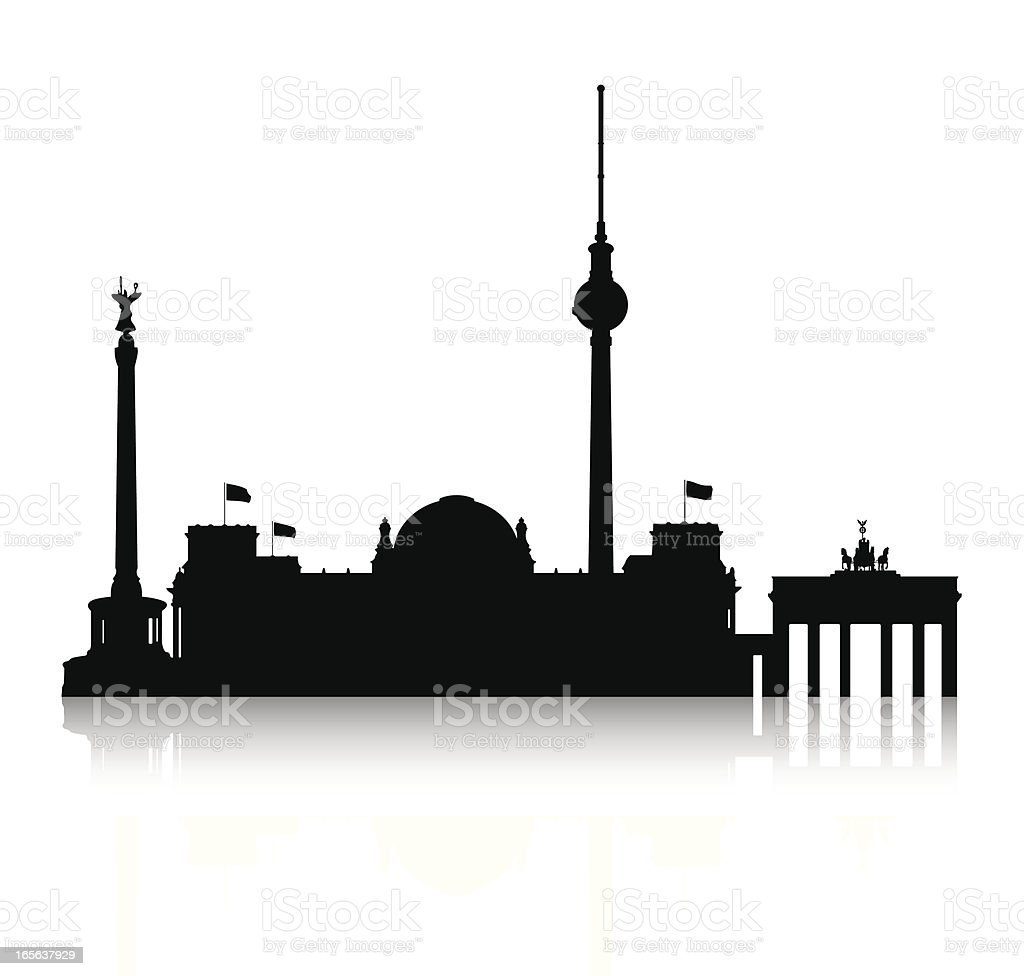Silhouette of Berlin royalty-free stock vector art