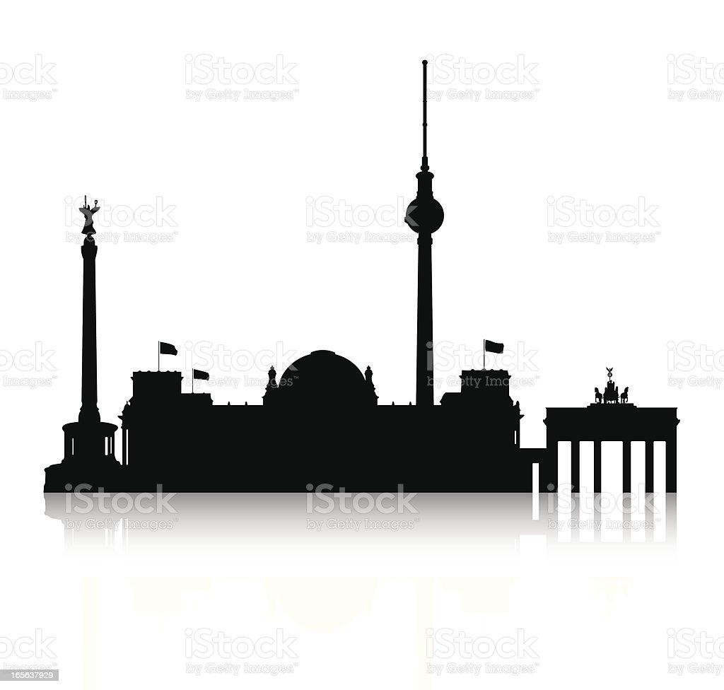Silhouette of Berlin vector art illustration