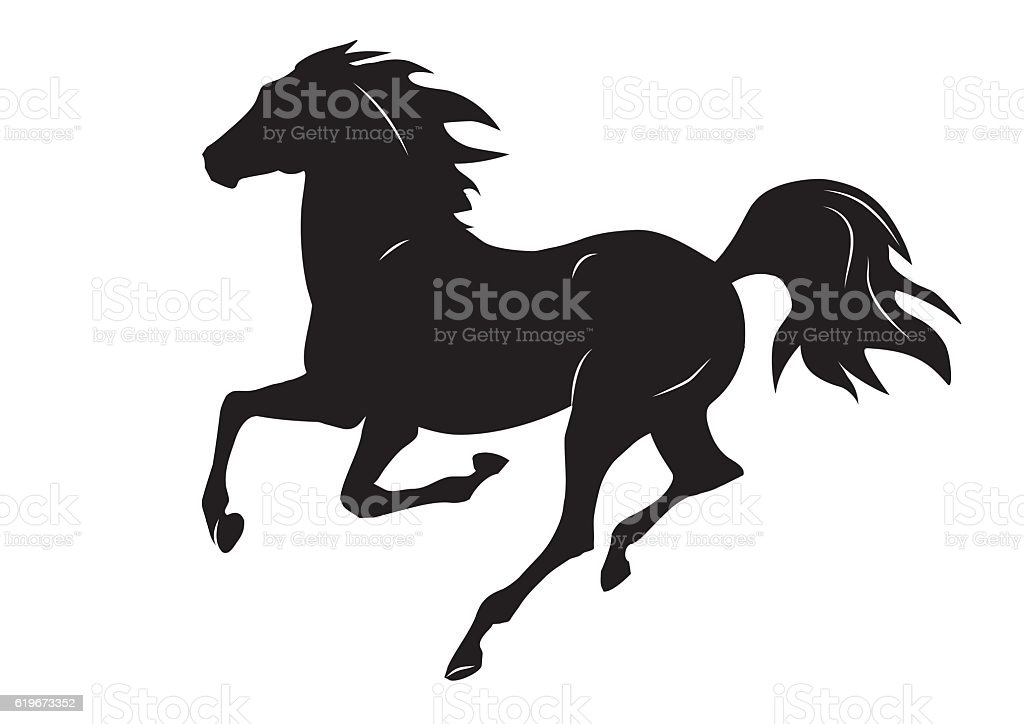 silhouette of black running horse vector illustration stock vector rh istockphoto com house vector art horse vector art pack