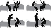 Silhouette of business couples in meetinghttp://www.twodozendesign.info/i/1.png