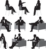 istock Silhouette of business executives 165794186