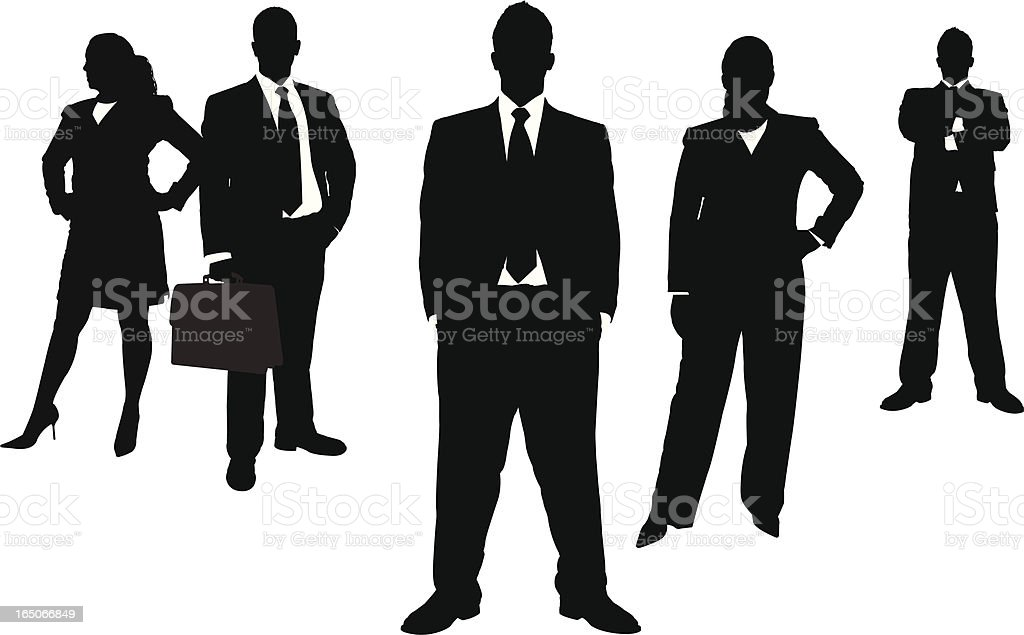 A silhouette of business people royalty-free stock vector art