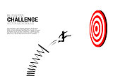 Business Concept of targeting and customer.route to success.