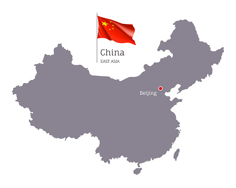 Silhouette of China country map