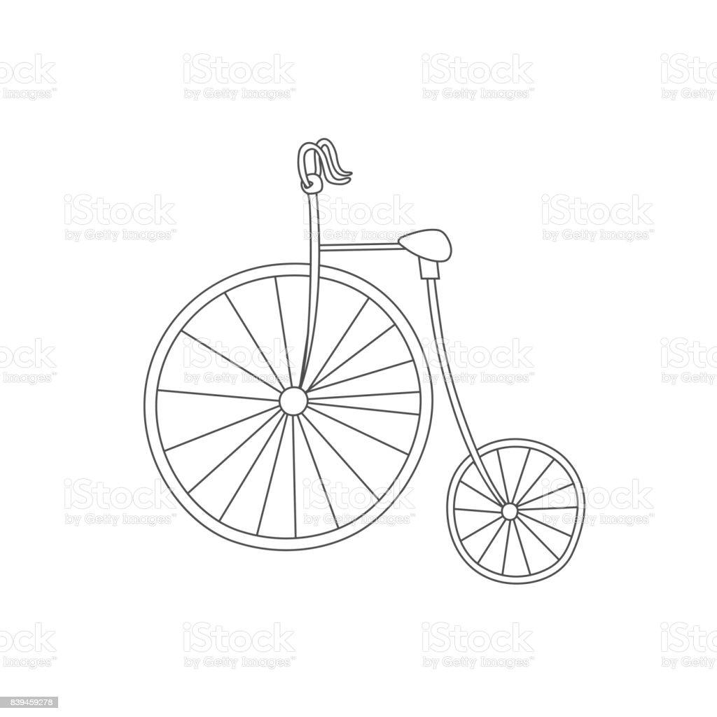 Ilustración De Silueta De Classic Moto Vintage Aislada Sobre Fondo