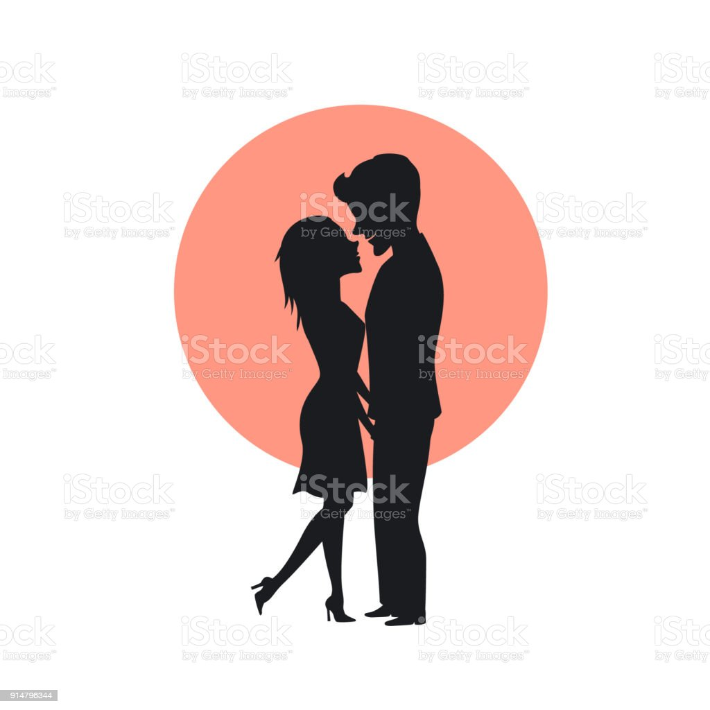 Dating paar silhouet vector