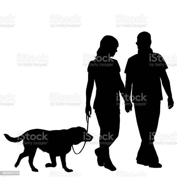 Silhouette of couple taking dog for walk vector id950693270?b=1&k=6&m=950693270&s=612x612&h=saxzdlv 1rhgfmxthweout08r fulvzzzoyrh1mxpx4=