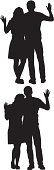 Silhouette of couple waving handshttp://www.twodozendesign.info/i/1.png