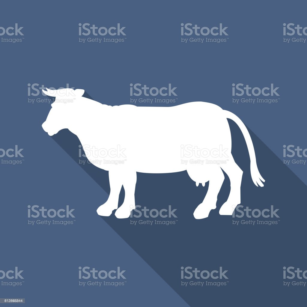 Silhouette of cow vector icon. vector art illustration
