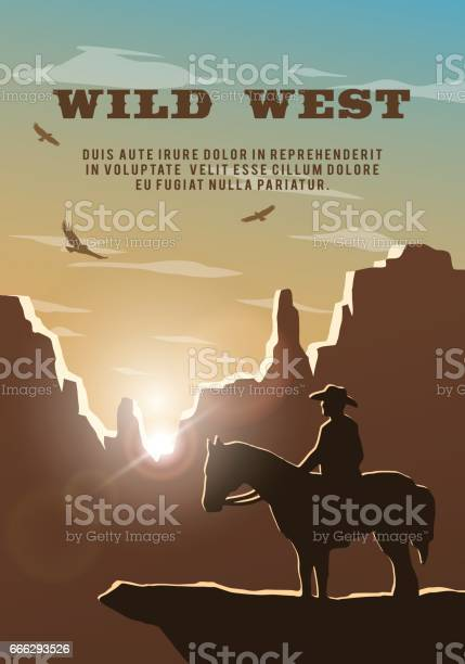 Silhouette of cowboy on the background of the wild west poster vector vector id666293526?b=1&k=6&m=666293526&s=612x612&h=swbq tc1gxsviwq6feqvqzqdro7 qwxaowiiacefmos=