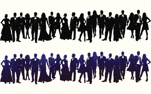 Silhouette of Crowd