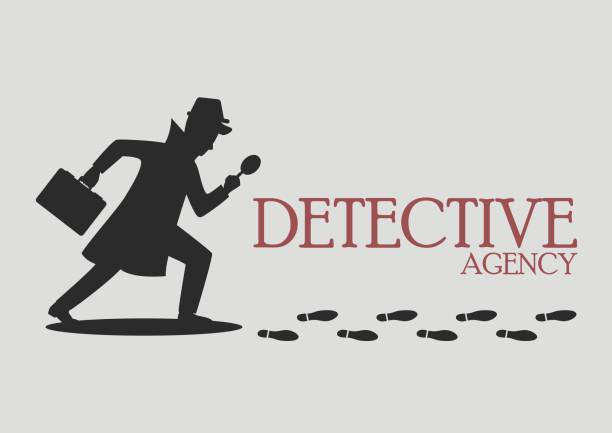 Silhouette of detective agency Silhouette of detective agency. Vector illustration detective stock illustrations
